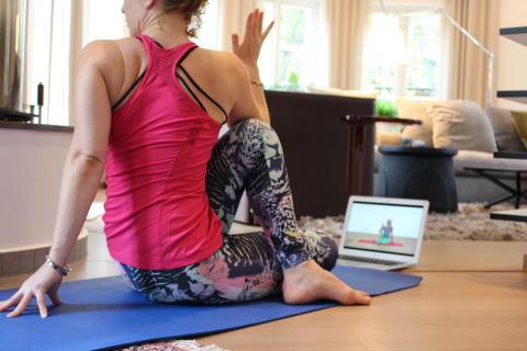 Först i Sverige med online-träning till hotellgästerna
