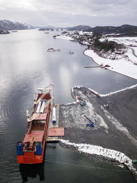 Fra Monstad kai og ut Åfjorden