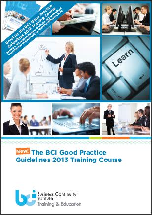 New BCI Good Practice Guidelines Training Course
