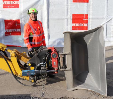 Veidekke först ut med skärpta säkerhetskrav på grävmaskiner