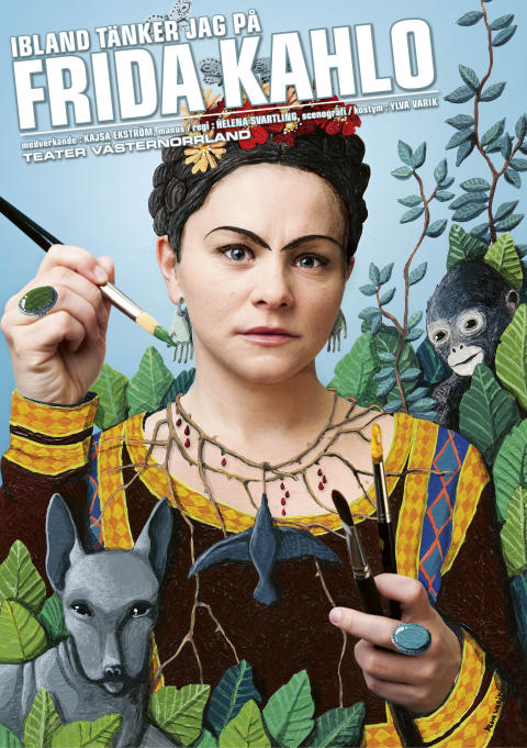 """Teater Västernorrland gästspelar i Umeå med """"Ibland tänker jag Frida Kahlo""""."""