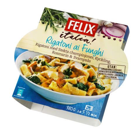 Felix Italia - Rigatoni ai Funghi
