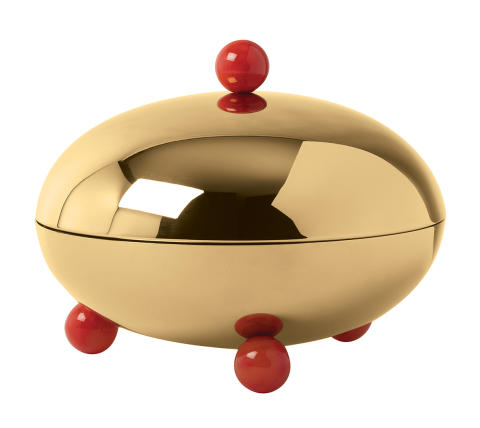 SBT_Penelope_Centrepiece_20,5_cm_PVD_Gold_Carnelian_Red