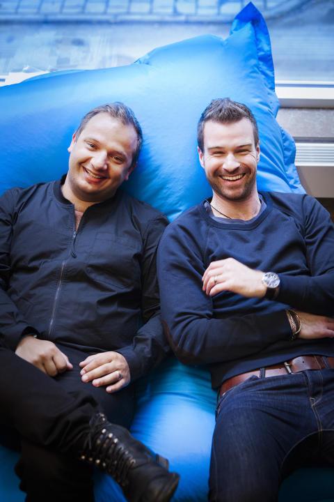 FundedByMe founders Daniel Daboczy and Arno Smit