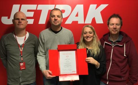 Jetpak Växjö blev årets Franchisetagare 2013