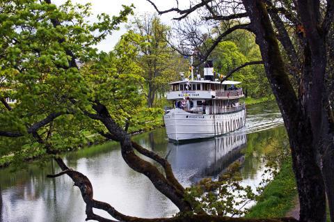 Pressbild - Göta Kanal - m/s Wilhelm Tham