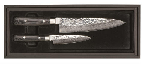 Yaxell - 2-delsset, allkniv 12 cm samt kockkniv 20 cm