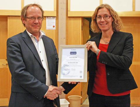 VafabMiljö har blivit kvalitetscertifierade