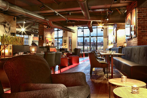 Bar at Hotel Torni Tampere, Finland, by Stylt