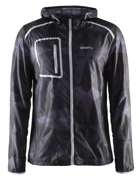Focus hood jacket (herr) i färgen geo black