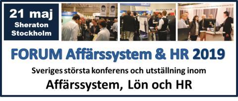 Välkommen att besöka oss på mässan Forum Affärssystem & HR 2019