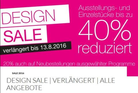 BoConcept DESIGN SALE – verlängert bis zum 13. August 2016