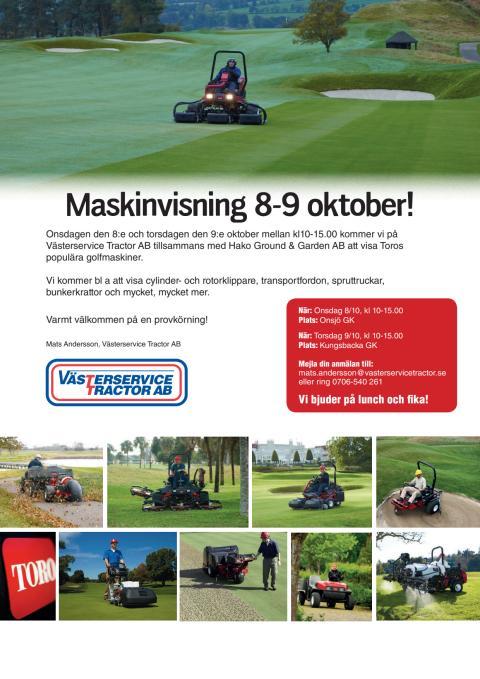 Inbjudan golfvisning Västerservice Tractor