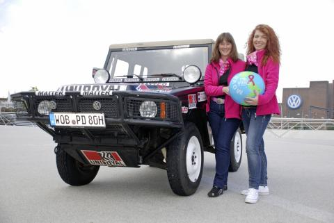 Volkswagen Classic competes in 'Le Jog' the toughest classic car rally in Europe