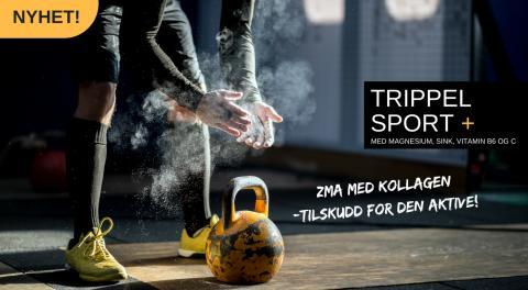 Nyhet! Biopharma Trippel sport + med ZMA og kollagen
