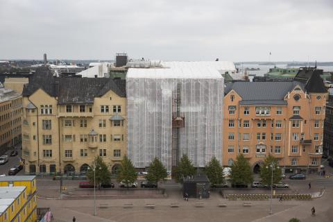 Korkeimman hallinto-oikeuden rakennuksen sääsuojaus Helsingissä