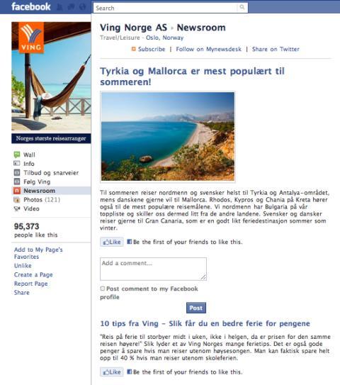 Mynewsdesk + Facebook = sant!