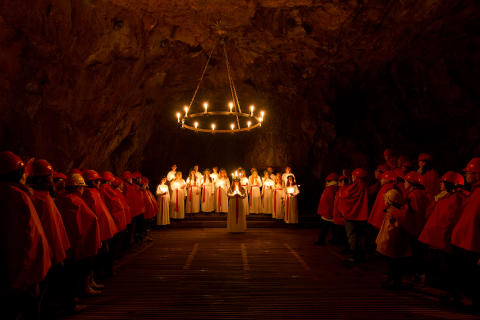 Luciafirande i gruvan