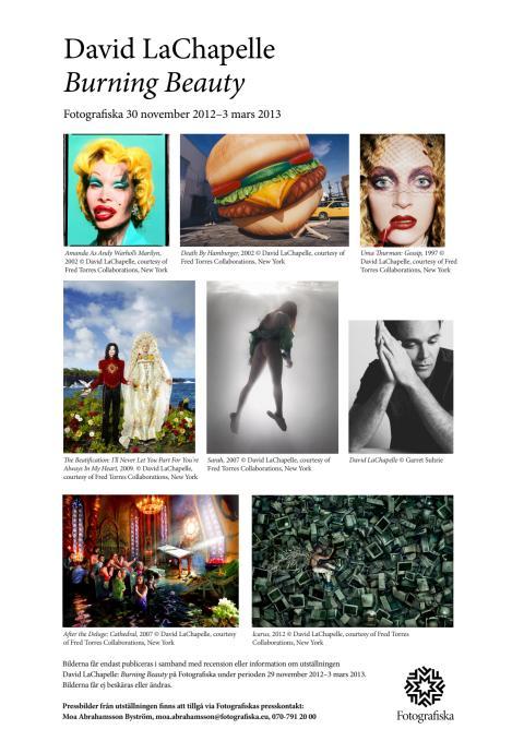 Lågupplösta pressbilder LaChapelle