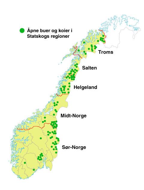 Norgeskart - åpne buer