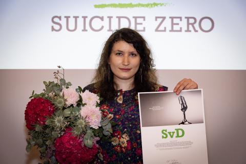 SvD vinner Suicide Zeros Pris för bästa rapportering om självmord 2017