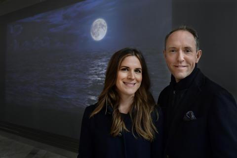 Konstnärsduon Alexandrov Klum inviger installation på Göteborg Landvetter