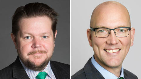 Johan Hedin och Gustav Hemming