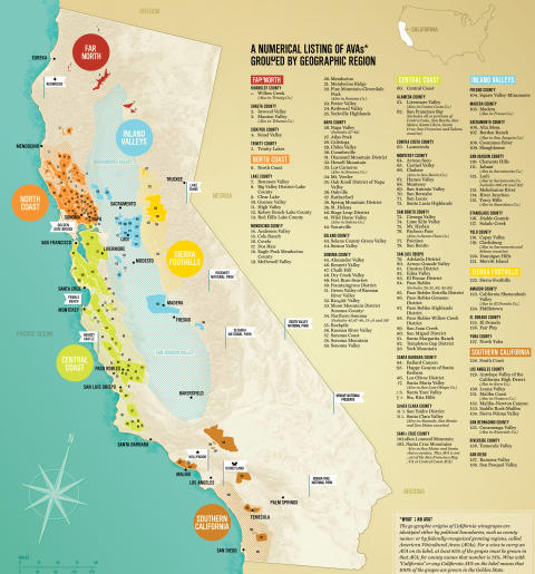 California wine regions map