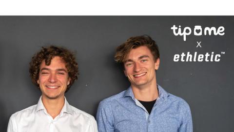 """Von Mensch zu Mensch: """"tip me"""" sammelt erstes Trinkgeld für Ethletic"""