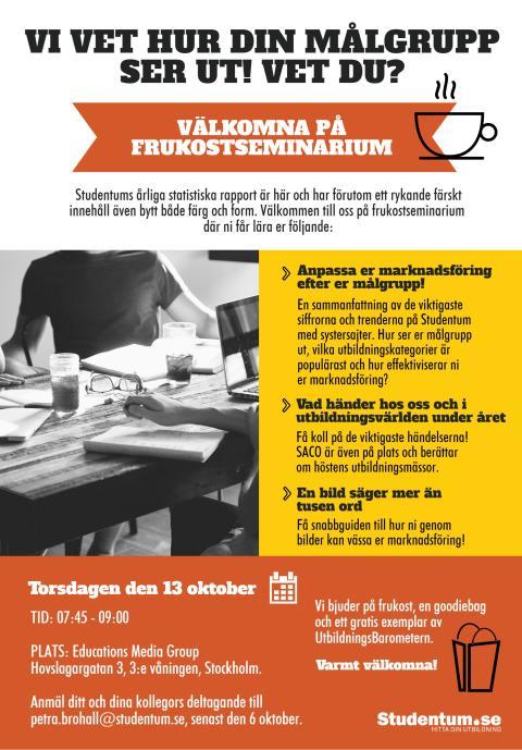 Frukostseminarium hos Studentum.se