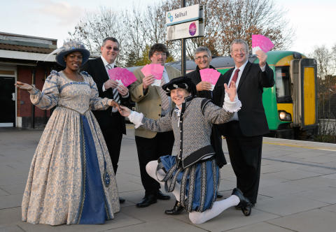 Celebrating the new Solihull to Stratford Upon Avon train service