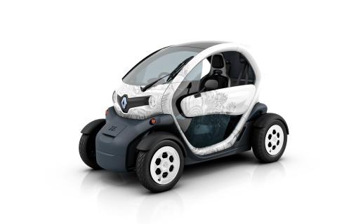 Bilder på Renaults elbilar från Paris Motorshow 2010