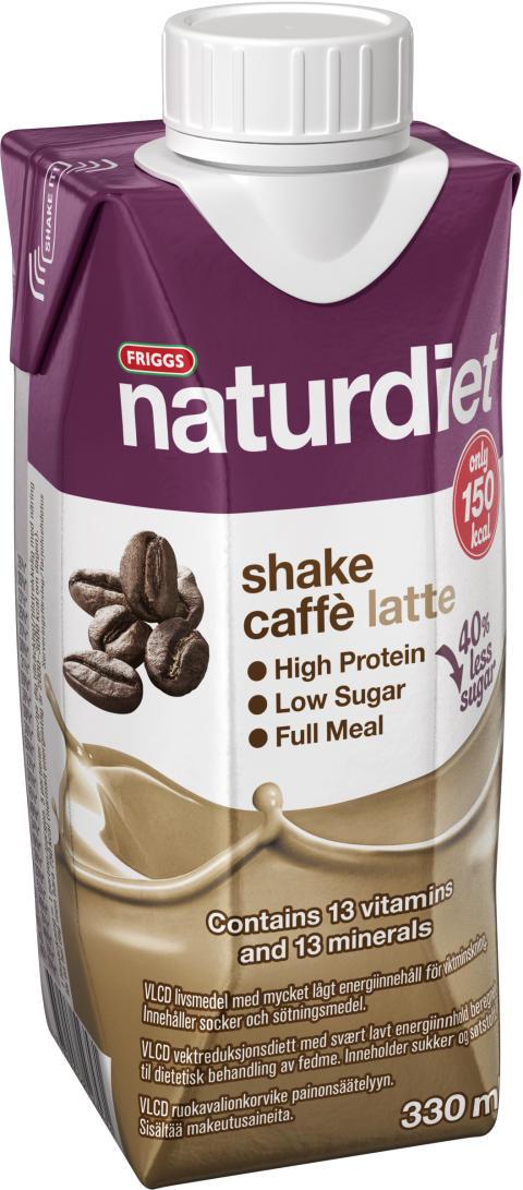 Naturdiet Caffe Latte shake - nu med mindre socker