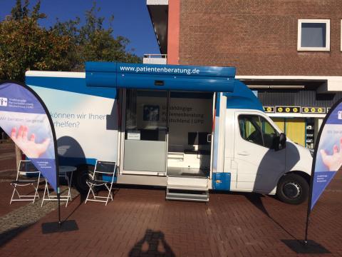 Beratungsmobil der Unabhängigen Patientenberatung kommt am 2. November nach Münster.