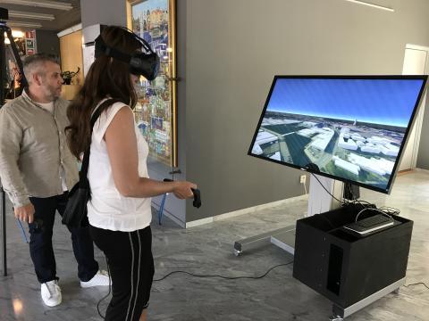 Testa översiktsplanen för Nyhamnen i 3D och VR