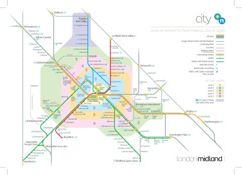 Local Routes In The Midlands London Midland - London midland train map