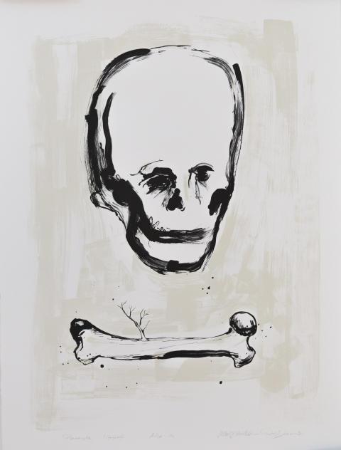 Roald Andersen d.y/Marius Amdam, Adjø da, 2019. Litografi.
