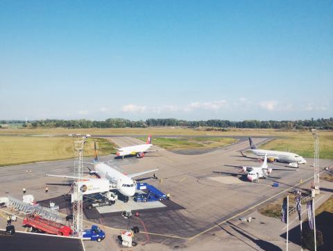Bästa september någonsin för Kalmar Öland Airport