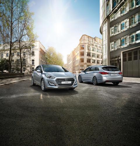 Sverigepremiär för Hyundais nya i30 och i40