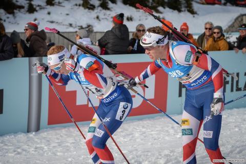 Johannes og Tarjei stafett VM Hochfilzen