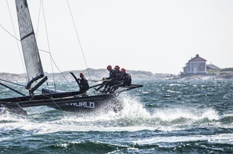 Hårda vindar ställer in torsdagens tävlingar på Marstrand