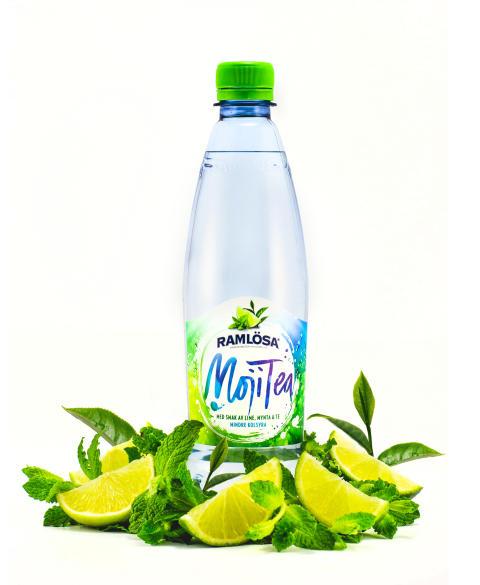 Lime, mynta och te i nya Ramlösa MojiTea