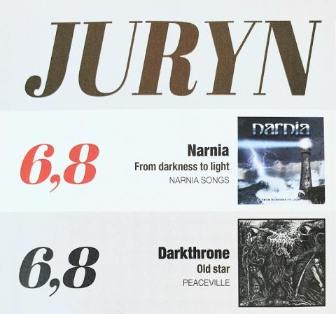 Narnia & Darkthrone toppar JURYN i Sweden Rock Magazine!