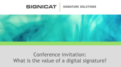 WHAT IS THE VALUE OF A DIGITAL SIGNATURE?