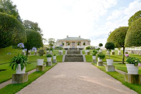 Gunnebo slott, norra trädgården 2017