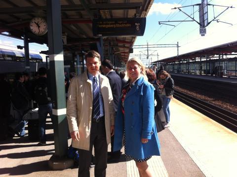 Infrastukturministern och MTR Express besökte Södertälje