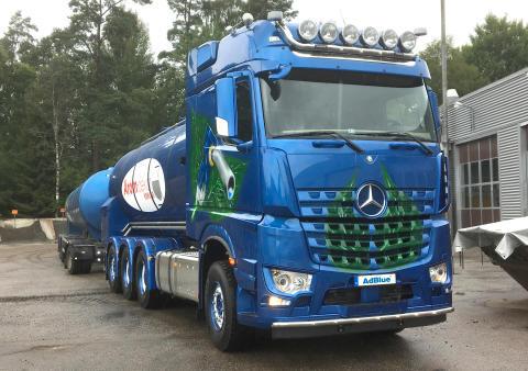 Arom-dekor Kemis AdBlue®bulkbilsflotta växer - 5:e bilen rullar nu!
