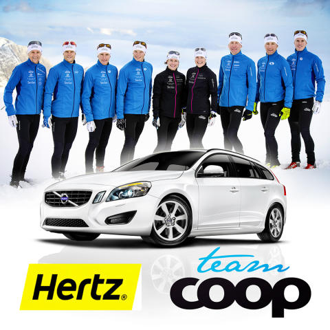Hertz Bilutleie bytter ut bildekk med langrennsski og går inn som sponsor av Team Coop.