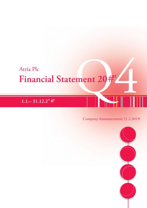 Financial statement Atria Plc 2010