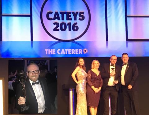 Stoke Park's Executive Chef Chris Wheeler celebrates a magnificent year as he is crowned Hotel Chef of the Year at the Hotel Cateys 2016!